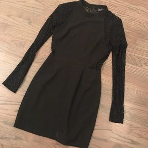 ASTR - Lace Sleeve and cutout dress.